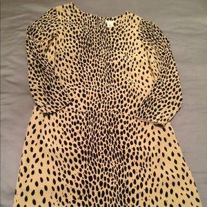 J. Crew animal print dress